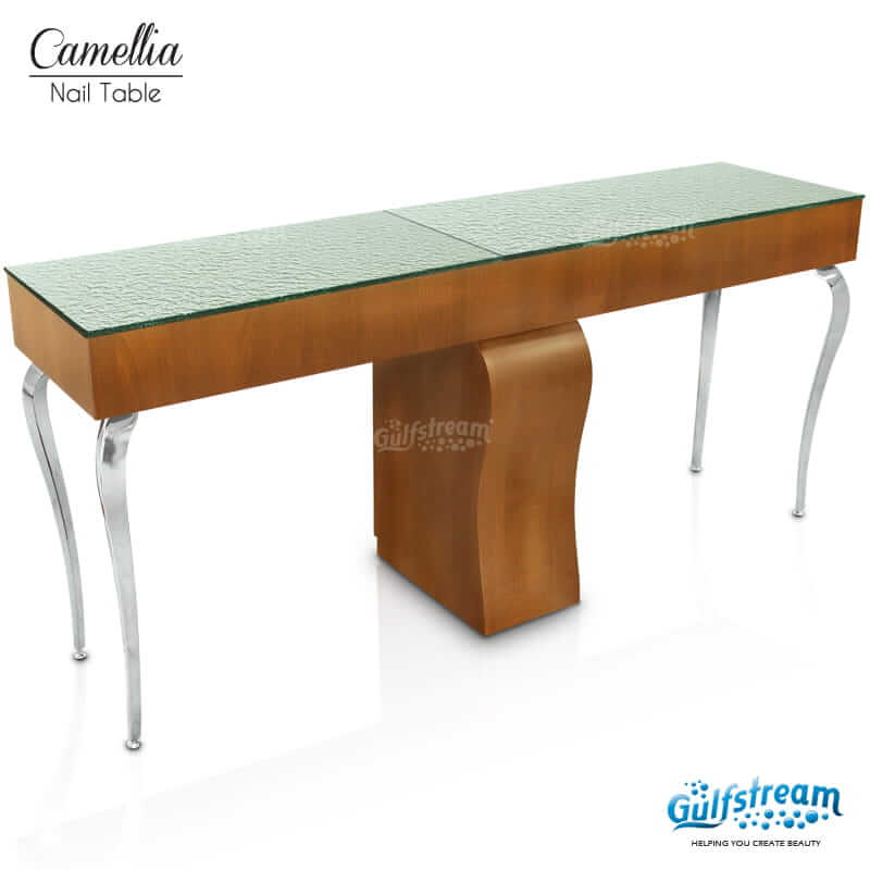 superior L Shaped Manicure Table Part - 3: Camellia Double Nail Table