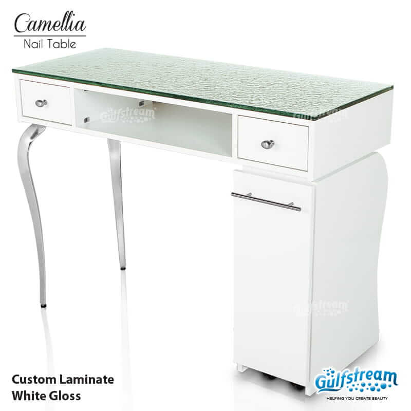 stunning L Shaped Manicure Table Part - 14: Camellia Single Nail Table
