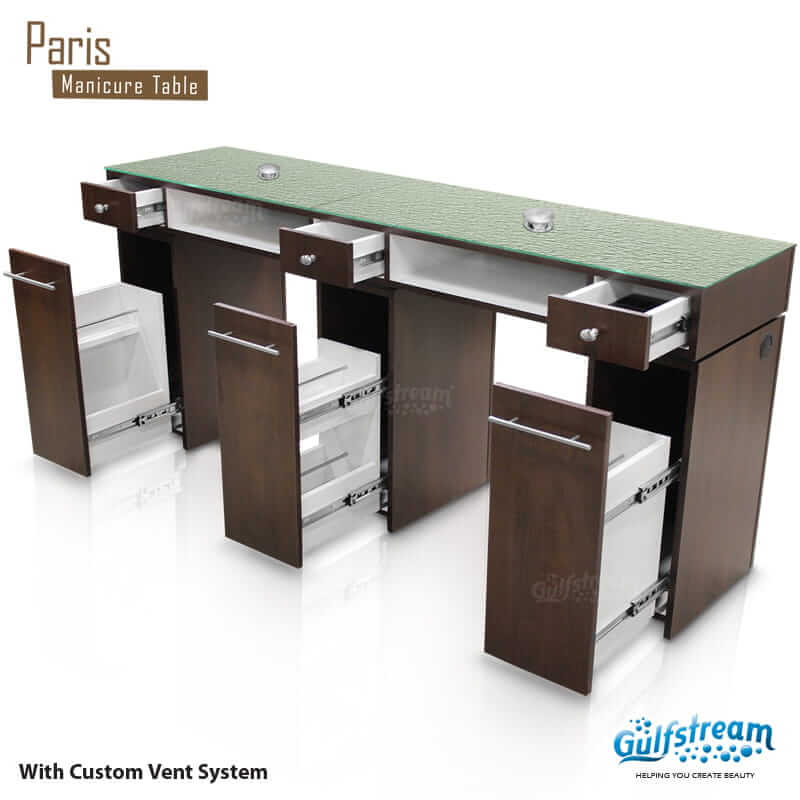 incredible L Shaped Manicure Table Part - 9: Paris Double Nail Table