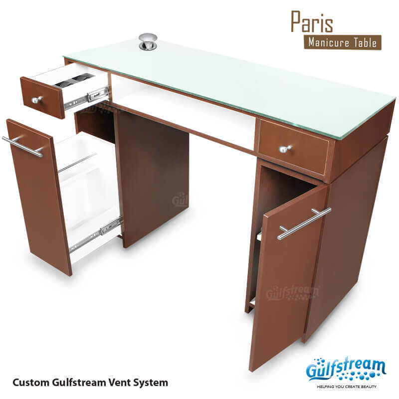 Paris Single Nail Table Gulfstream Inc