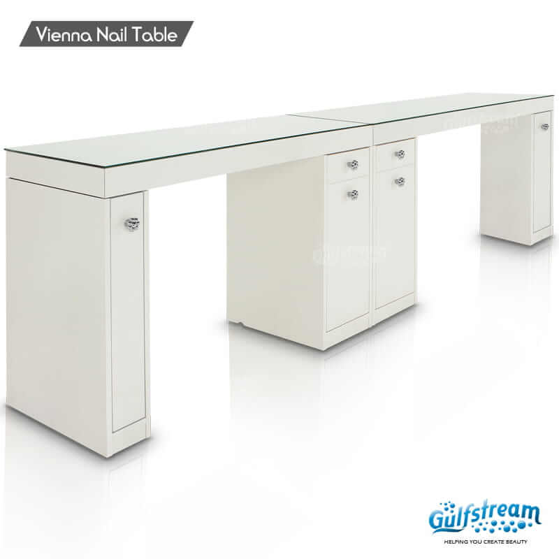 beautiful L Shaped Manicure Table Part - 17: Vienna Double Nail Table