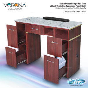 GS9129 Verona Single Nail Table without Ventilation System and F_Nov2019_1