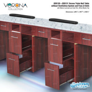 GS9130   GS9131 Verona Triple Nail Table without Ventil_Nov2019_2