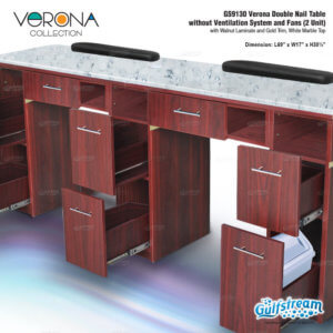 GS9130 Verona Double Nail Table without Ventilation System and Fans_Nov2019_2