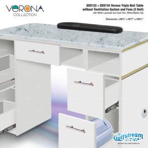 GS9133   GS9134 VeronaTripleNailTablewithoutVent